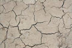Взгляд сверху обезвоженной земли с сухой треснутой землей стоковое изображение rf