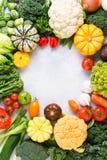 Взгляд сверху овощей радуги, сбор осени Стоковые Изображения