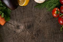 Взгляд сверху овощи Взгляд сверху свежие овощи Стоковые Изображения RF
