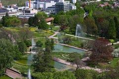 взгляд сверху парка города Стоковое Изображение RF