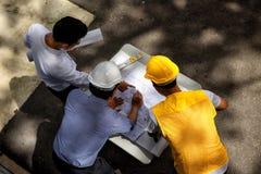 Взгляд сверху планирования инженера Стоковые Фотографии RF