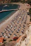 взгляд сверху пляжа Стоковое Фото