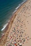 взгляд сверху пляжа Стоковое Изображение