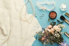 Взгляд сверху подготовки свадьбы Стоковая Фотография