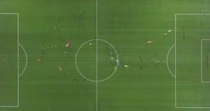 Взгляд сверху пути футбольного стадиона акции видеоматериалы