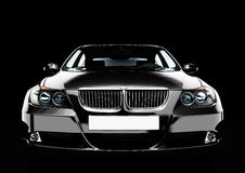 взгляд сверху роскошного седана автомобиля передний Стоковые Изображения RF