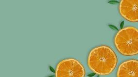 Взгляд сверху свежих кусков лимона стоковое изображение