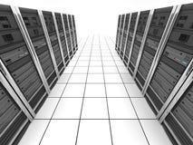 взгляд сверху сервера комнаты иллюстрация вектора