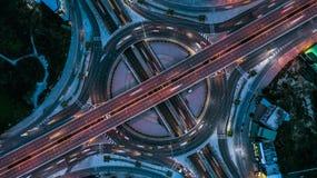 Взгляд сверху скоростной дороги, взгляд сверху над шоссе, скоростная дорога и m Стоковое Изображение RF