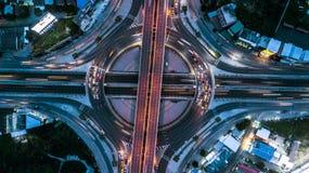 Взгляд сверху скоростной дороги, взгляд сверху над шоссе, скоростная дорога и m Стоковое фото RF