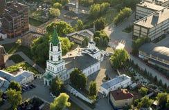 Взгляд сверху собора Borisoglebsky, Рязани стоковая фотография rf
