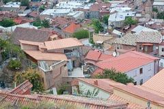 Взгляд сверху Тбилиси стоковые фотографии rf