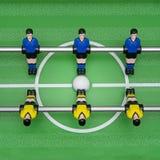 Взгляд сверху футбола таблицы на игроках стоковые изображения rf