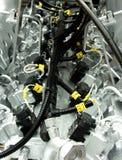 взгляд сверху частей двигателя стоковое фото rf