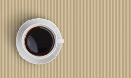 Взгляд сверху черной кофейной чашки Стоковая Фотография