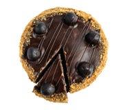 Взгляд сверху шоколадного торта Стоковые Фото