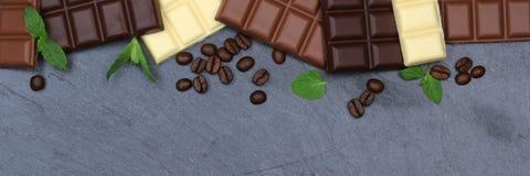 Взгляд сверху copyspace знамени шифера еды бара шоколадов шоколада Стоковое Изображение RF