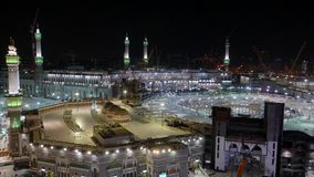 Взгляд сверху Masjidil Haram сток-видео