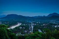 Взгляд сверху, prabang Luang, Лаос. Стоковые Фото