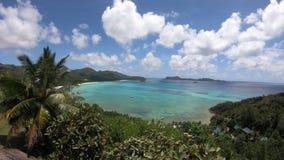 Взгляд сверху Praslin Сейшельских островов акции видеоматериалы