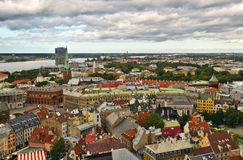 взгляд святой peter riga города собора Стоковые Фотографии RF