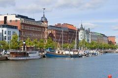 Взгляд северного обваловки, Хельсинки стоковое фото rf