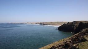 Взгляд северный Корнуолл побережья Perranporth видеоматериал
