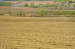 Взгляд сельской местности весной стоковые фотографии rf