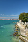 Взгляд скалы Средиземного моря Стоковая Фотография RF