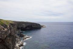 Взгляд скалы Banzai, Сайпана стоковая фотография