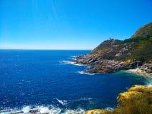 Взгляд скал островов Cies, естественный рай в Галиции, s стоковая фотография rf