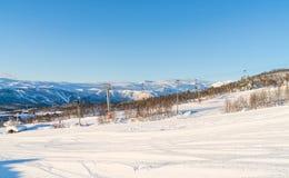 Взгляд снежного ландшафта в Beitostolen Стоковая Фотография RF