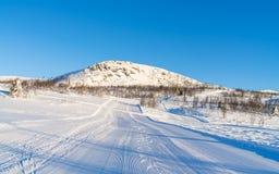 Взгляд снежного ландшафта в Beitostolen Стоковое Изображение