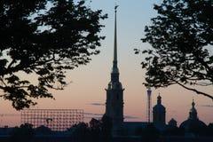 Взгляд собора Андрюа апостола ночи белые Стоковая Фотография