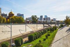Взгляд собора в имени Александре Nevsky на части Стоковые Фото
