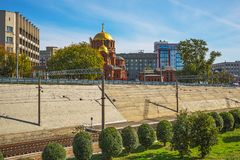 Взгляд собора в имени Александре Nevsky на части Стоковое фото RF