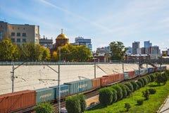 Взгляд собора в имени Александре Nevsky на части Стоковое Фото