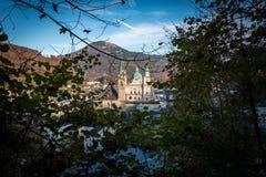 Взгляд собора Зальцбурга и францисканской церков стоковые изображения