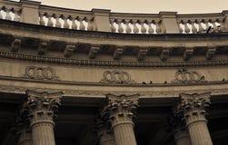 Взгляд собора значка Казани в городе Санкт-Петербурга, России Стоковое Фото