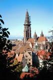 Взгляд собора монастырской церкви Freiburger, Фрайбург im Breisgau, Германия стоковые фото