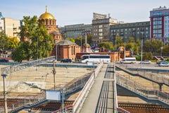 Взгляд собора от имени Александра Nevsky Novosi Стоковое Изображение