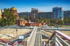 Взгляд собора от имени Александра Nevsky Novosi Стоковые Изображения