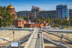 Взгляд собора от имени Александра Nevsky Novosi Стоковое Изображение RF