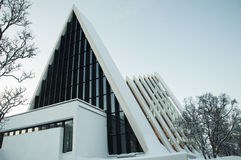 Взгляд собора Tromso Стоковое Фото