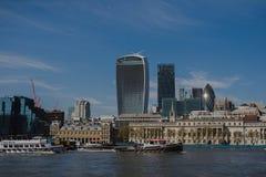 Взгляд современного города Лондона панорамный стоковые фотографии rf