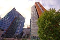 Взгляд современных зданий в городе вены, Австрии Стоковая Фотография RF