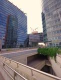 Взгляд современных зданий в городе вены, Австрии Стоковое Изображение RF