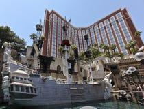 взгляд сокровища острова гостиницы казино Стоковые Фотографии RF