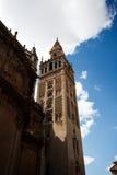 Взгляд со стороны богато украшенный башни колокола собора Стоковая Фотография RF