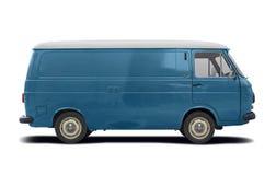 Взгляд со стороны Классическ Итальянск фургона Фиат 238 изолировал на белизне стоковое фото